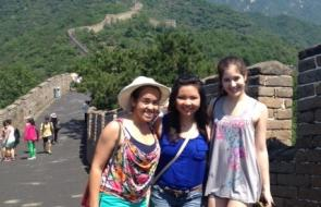 Students at Great Wall